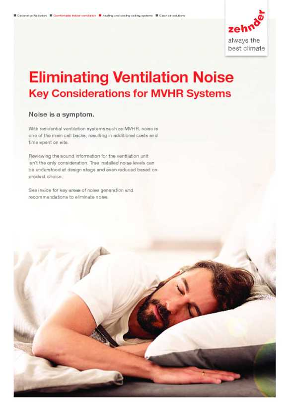 Eliminating Noise from MVHR