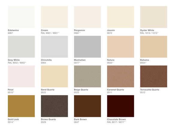 Colours | Zehnder Group UK